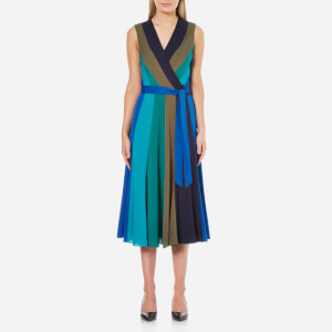 Diane von Furstenberg Women's Penelope Dress - Deep Night/Olive/Sea Green/Neptune Black