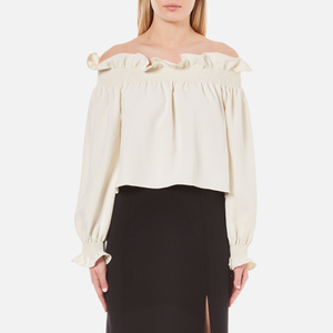 Diane von Furstenberg Women's Georgie Off the Shoulder Top - Canvas White