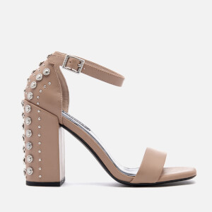 Senso Women's Leila Suede Barely There Heeled Sandals - Caramel