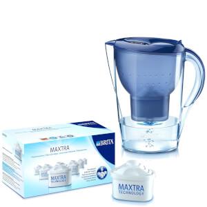 BRITA Marella XL Cool Water Filter Jug - Blue 3.5L (Includes 7 MAXTRA Cartridges)
