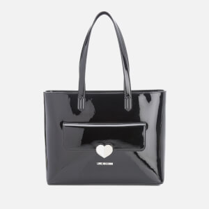 Love Moschino Women's Love Tote Heart Bag - Black