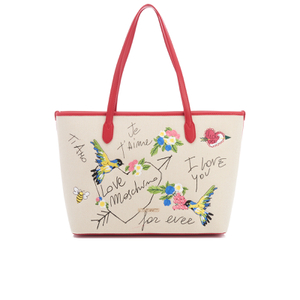 Love Moschino Women's Love Scribble Tote Bag - Beige/Red