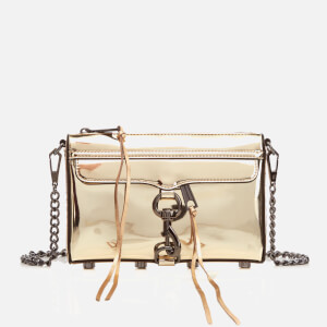 Rebecca Minkoff Women's Mirrored Metallic Mini M.A.C. Cross Body Bag - Pale Gold