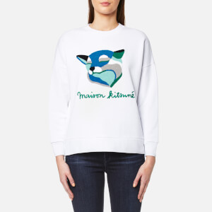 Maison Kitsuné Women's Fox Ines Sweatshirt - White