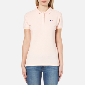 Maison Kitsuné Women's Fox Patch Polo Shirt - Pink