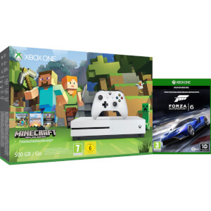 Xbox One S 500GB with Minecraft Favourites and Forza 6