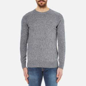 Barbour Men's Cotton Staple Crew Knitted Sweater - Navy