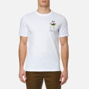 PS by Paul Smith Men's Melon Reverse Print T-Shirt - White
