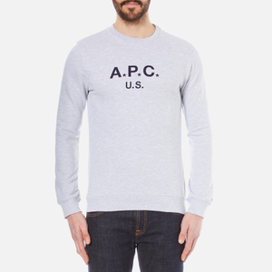 A.P.C. Men's A.P.C US Sweatshirt - Gris Clair Chine