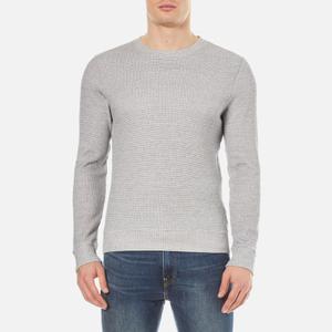 A.P.C. Men's Dennis Crew Neck Sweatshirt - Bleu Gris Chine