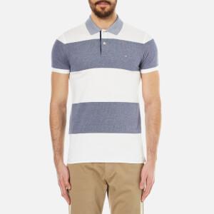 GANT Men's Barstripe Oxford Pique Rugger Polo Shirt - Persian Blue