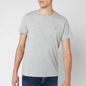 GANT Men's Original Short Sleeve T-Shirt - Light Grey Melange
