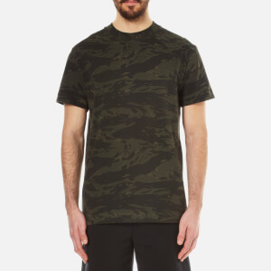 T by Alexander Wang Men's Camo High Neck Short Sleeve T-Shirt - Ivy