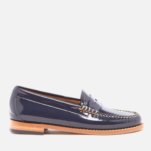 Bass Weejuns Women's Penny Wheel Patent Leather Loafers - Deep Navy