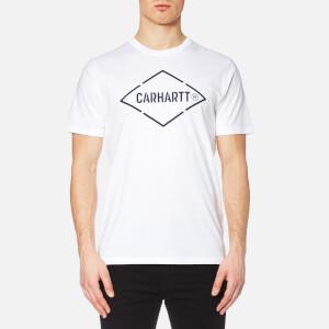 Carhartt Men's Short Sleeve Diamond T-Shirt - White/Navy