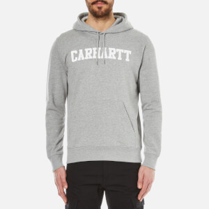 Carhartt Men's Hooded College Sweatshirt - Grey Heather/White