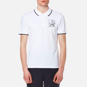 KENZO Men's Short Sleeve Logo Polo Shirt - White
