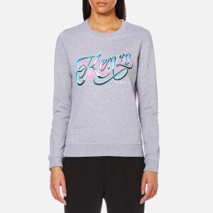 KENZO Women's Light Cotton Molleton Logo Sweatshirt - Pearl Grey