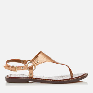 Sam Edelman Women's Greta Leather Toe Post Sandals - Platinum Pink Metallic