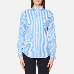 Polo Ralph Lauren Women's Kendal Stripe Shirt - Blue/White