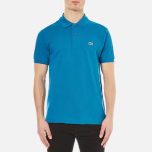Lacoste Men's Short Sleeve Pique Polo Shirt - Mariner