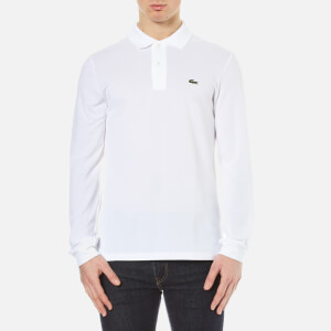 Lacoste Men's Long Sleeve Pique Polo Shirt - White