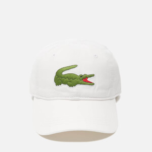 Lacoste Men's Large Croc Logo Baseball Cap - White