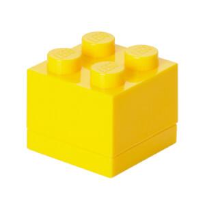 Mini Brique de rangement LEGO® Jaune 4 tenons