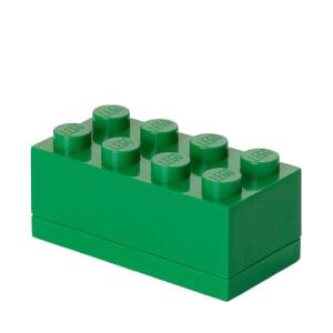 Mini Brique de rangement LEGO® Vert 8 tenons