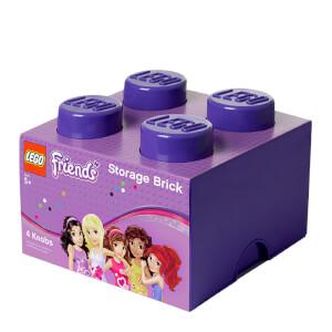 Brique de rangement LEGO® Violet 4 tenons