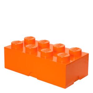 Ladrillo de almacenamiento LEGO (8 espigas) - Naranja