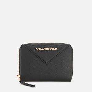 Karl Lagerfeld Women's K/Klassik Small Zip Wallet - Black