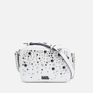 Karl Lagerfeld Women's K/Rocky Studs Small Cross Body Bag - White