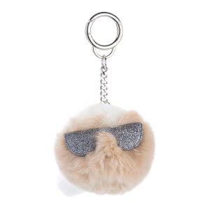 Karl Lagerfeld Women's K/Kocktail Fur Karl Keychain - Seashell