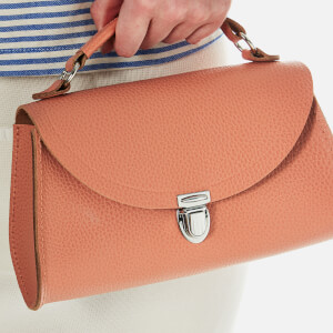 The Cambridge Satchel Company Women's Exclusive Mini Poppy Bag with Stamp - Terracotta Grain: Image 3