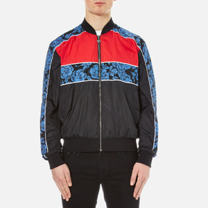 MSGM Men's Patterned Bomber Jacket - Multi