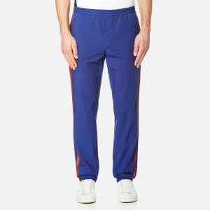 MSGM Men's Stripe Detail Trousers - Blue