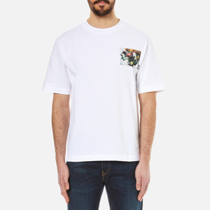 MSGM Men's Printed Pocket T-Shirt - White