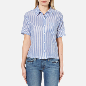 Levi's Women's Short Sleeve Sidney Shirt - Contrabassoon White