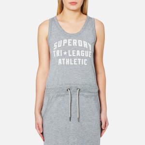 Superdry Women's Tri League Maxi Dress - Skyscraper Grey Marl