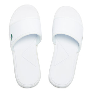 Lacoste Men's L.30 Slide Sport Slide Sandals - White