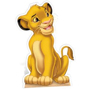 Silhouette Découpée en Carton Simba le Roi Lion