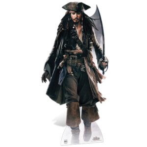 Pirates of the Caribbean Captain Jack Sparrow met Zwaard Kartonnen Figuur