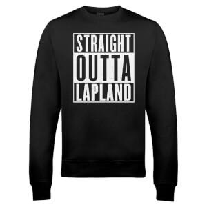 Pull de Noël Homme Straight Outta Lapland - Noir