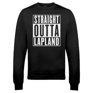 "Sudadera Navidad ""Straight Outta Lapland"" - Hombre/Mujer - Negro"