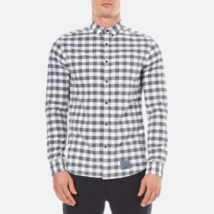 Superdry Men's Ultimate Pinpoint Long Sleeve Oxford Shirt - Kings Grey Check