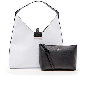 Guess Women's Bobbi Inside Out Hobo Bag - White/Black