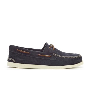 Sperry Men's A/O 2-Eye Wedge Suede Boat Shoes - Navy