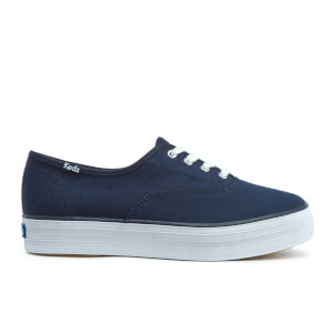 Keds Women's Triple Canvas Flatform Trainers - Peacoat Navy