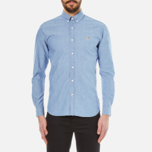 Maison Kitsuné Men's Classic Chambray Long Sleeve Shirt - Chambray